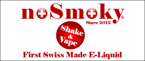 noSmoky (Swiss Made) E-Liquid Shake & Vape