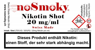 Nikotin Shot - noSmoky Swiss Made 20mg/ml