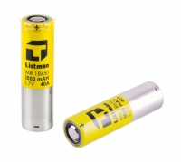 Listman 18650 Akku-Batterie (3000mAh / 40A)