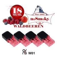 OVNS W01 Pods - noSmoky WALDBEEREN (4er Pack)
