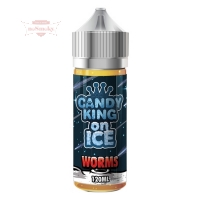 Candy King - SOUR WORMS ON ICE 120ml (Shake & Vape)
