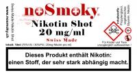 Nikotin Shot - noSmoky Swiss Made 20mg/ml